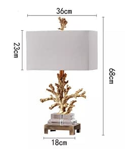 Gold Coral Table Lamp