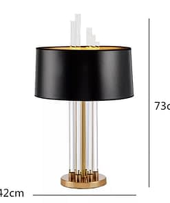 Modern Luxury Glass Crystal Table Lamp