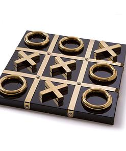 Black And Gold Tic-Tac-Toe Set