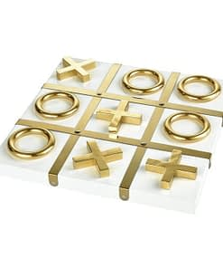 White And Gold Tic-Tac-Toe Set