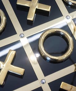 Black And Gold Tic-Tac-Toe Set